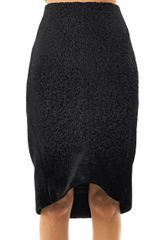 Balenciaga Flocked Degrade Pencil Skirt - Lyst