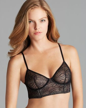 Calvin Klein Bra Black Label Longline Unlined Underwire - Lyst