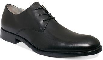 Calvin Klein Red Felix Plain Toe Suede Buck Shoe