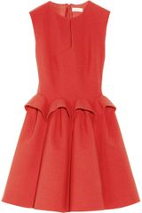 Delpozo Ruffled Woolcrepe Mini Dress - Lyst