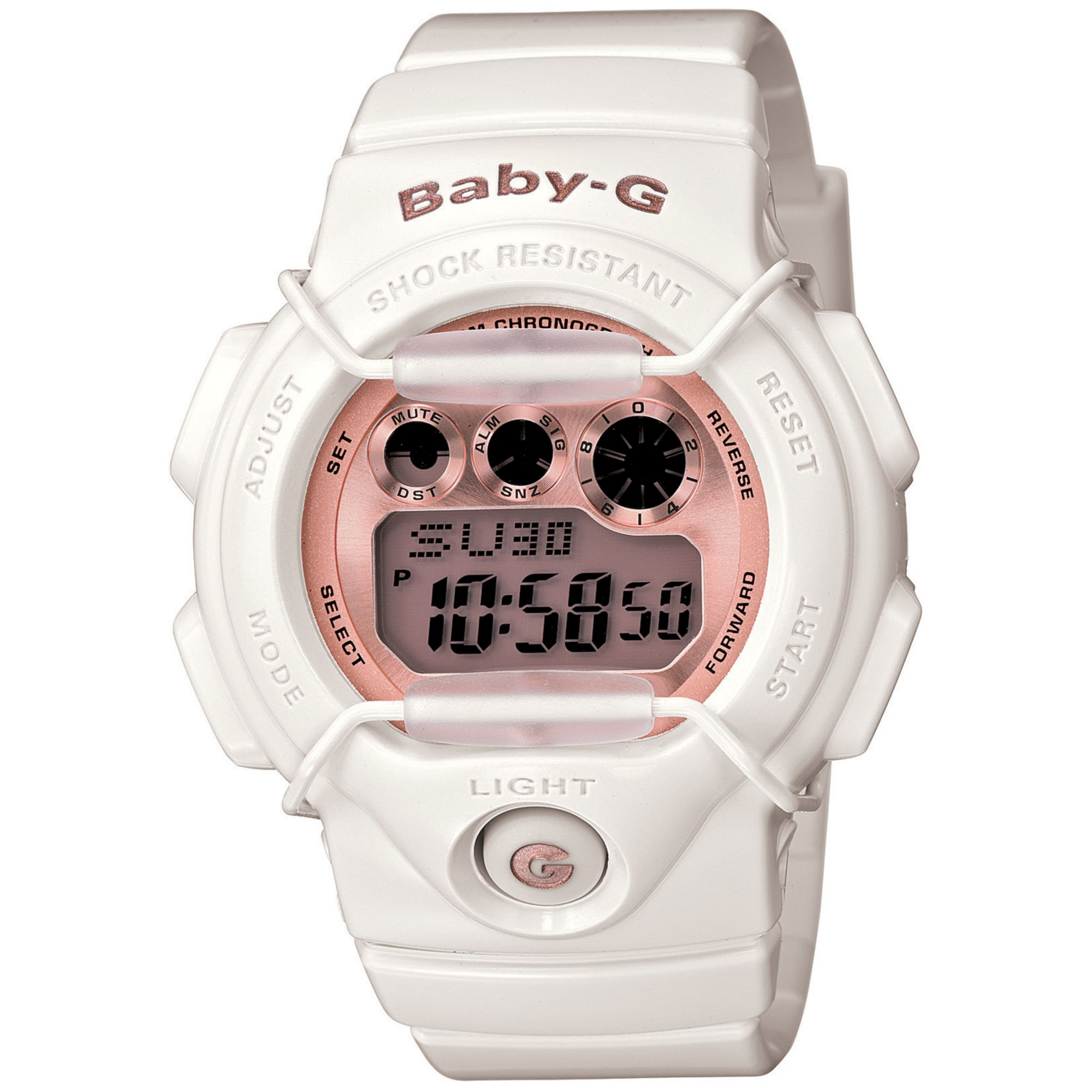 Lyst - G-Shock Baby G Watch Womens Digital Cream Resin Strap 39x45mm ... f14ac1e2b6df