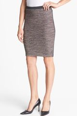Hinge Mixed Media Pencil Skirt - Lyst