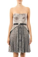 Jason Wu Snakeprint Strapless Dress - Lyst