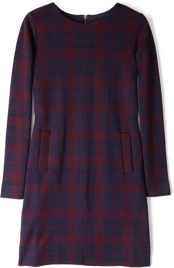 Marc By Marc Jacobs Maya Plaid Long Sleeve Dress - Lyst
