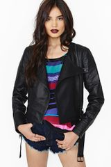 Nasty Gal Collection Infinite Leather Moto Jacket - Lyst