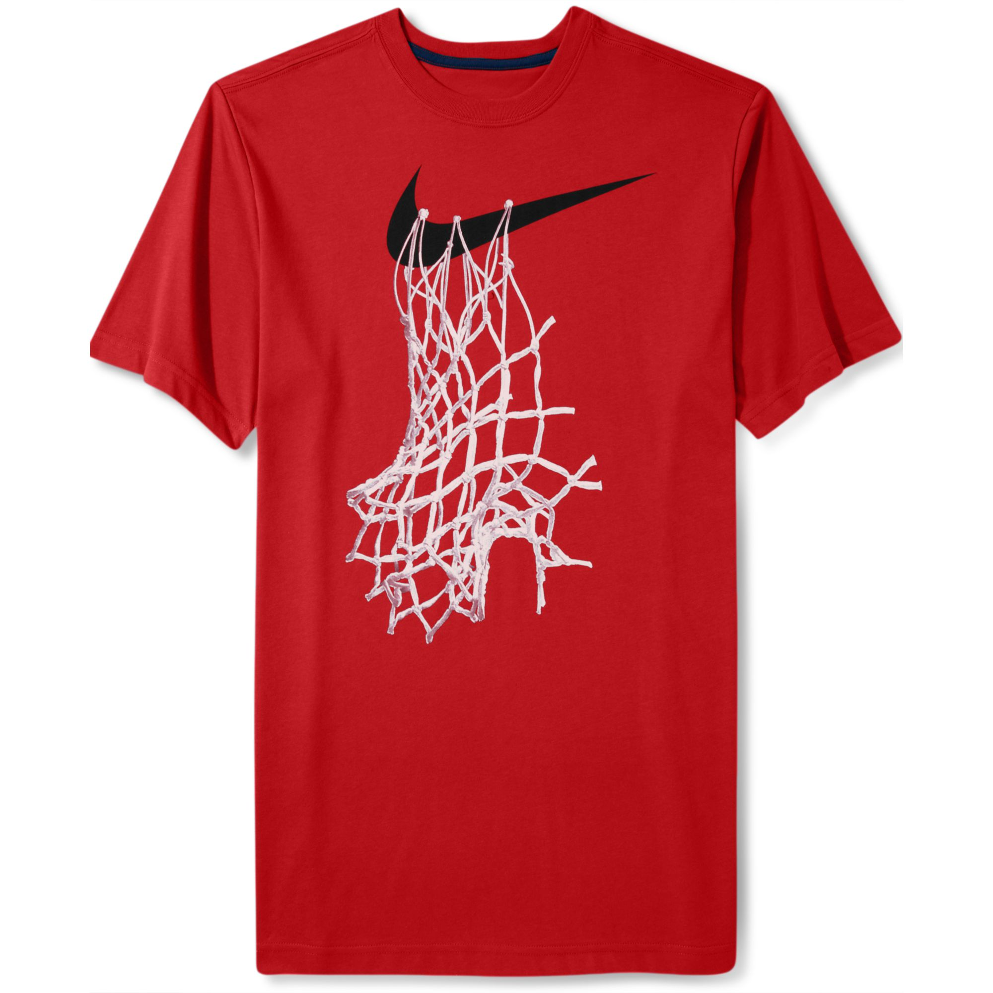 nike shortsleeve graphic basketball net tshirt in red for. Black Bedroom Furniture Sets. Home Design Ideas