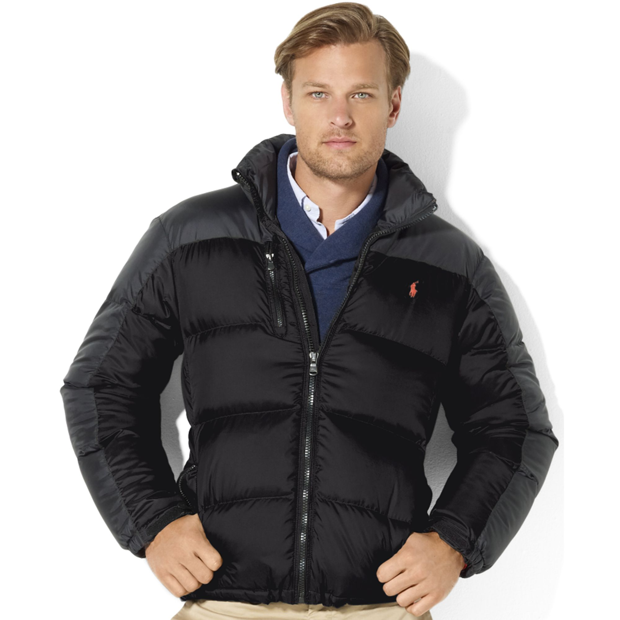 Ralph lauren Snow Polo Core Trek Down Jacket in Black for Men | Lyst