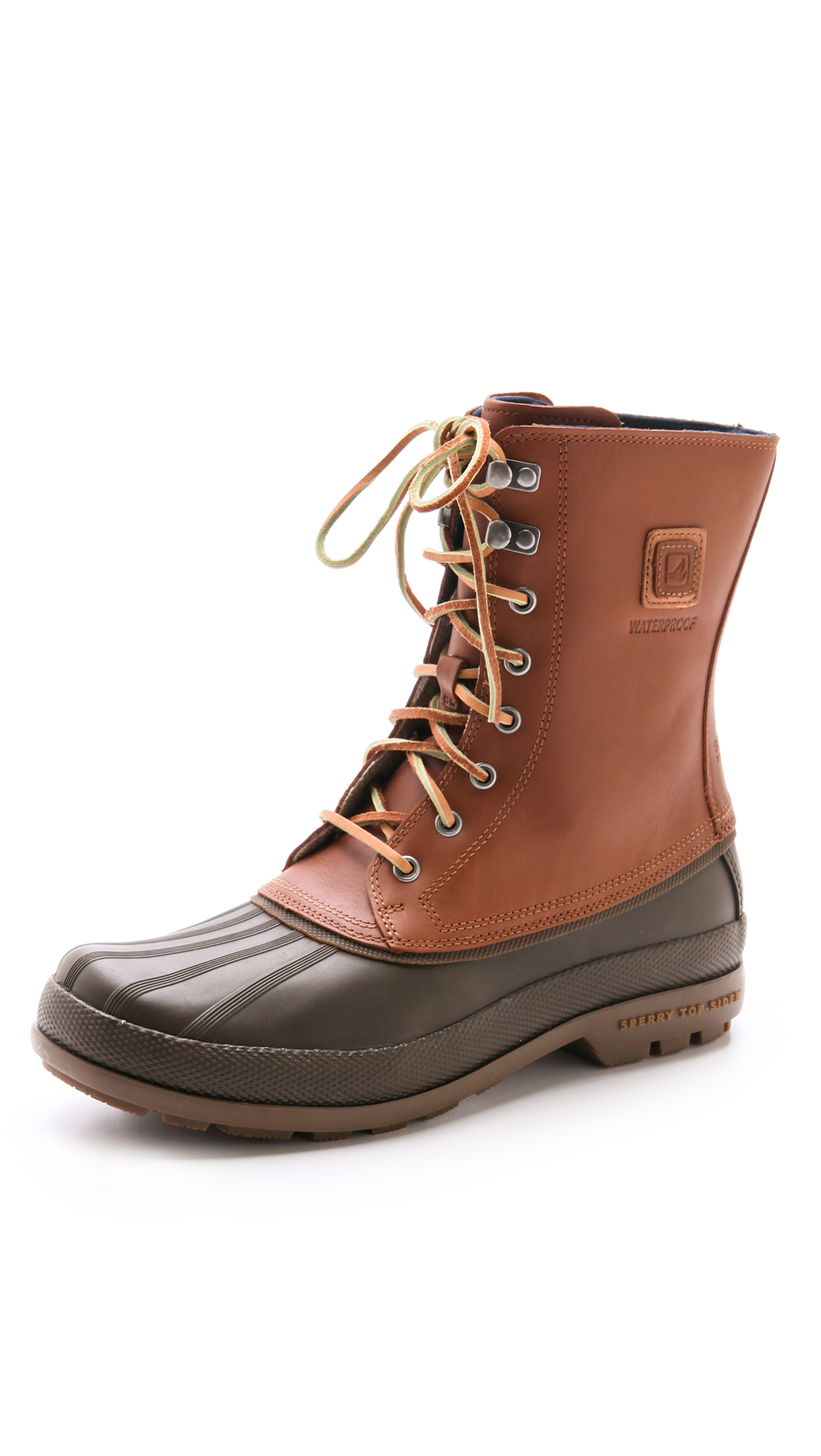 sperry top sider cold bay boots in brown for