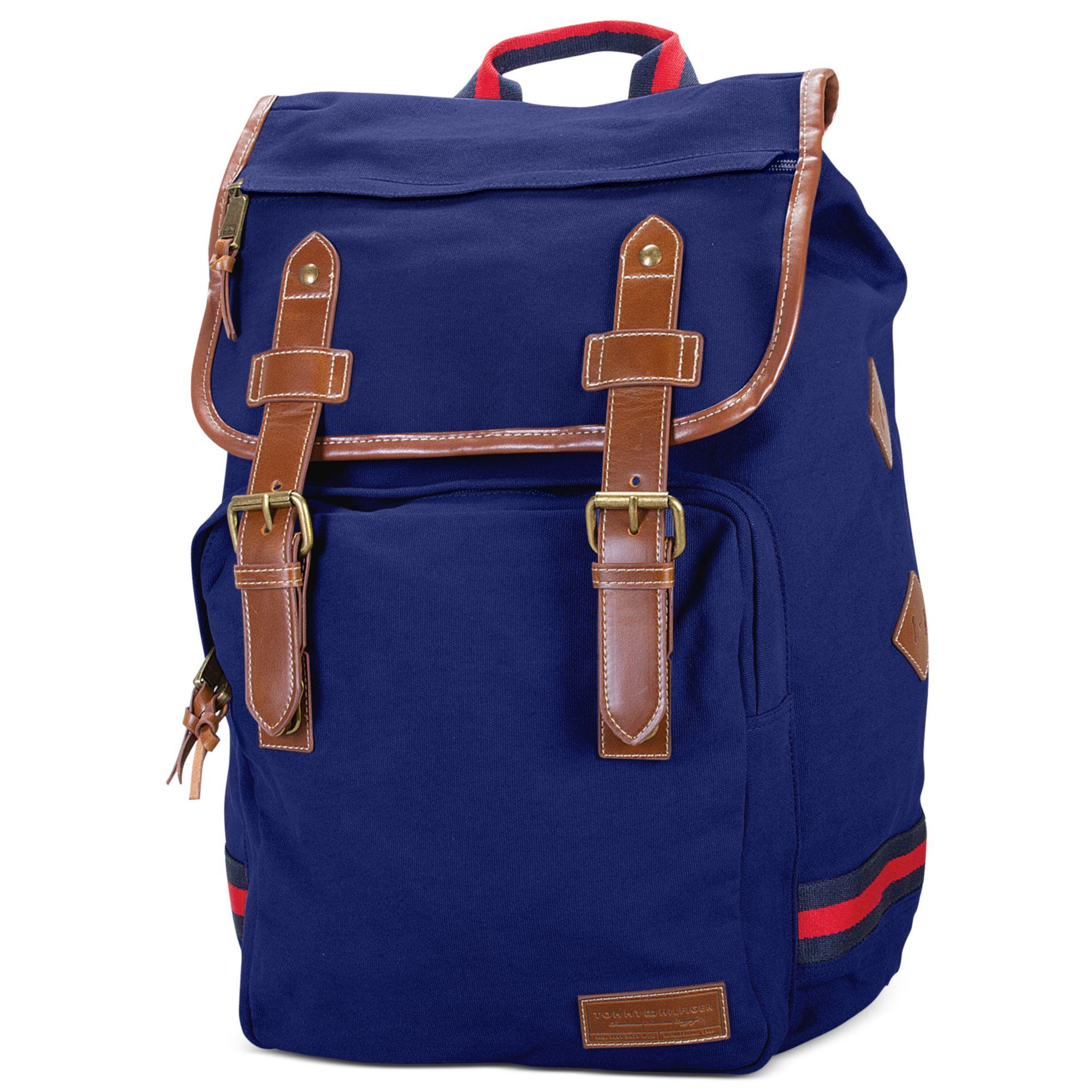 tommy hilfiger canvas backpack in blue for men navy lyst. Black Bedroom Furniture Sets. Home Design Ideas