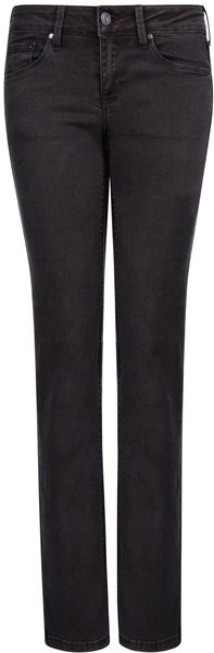 Mango Straight Fit Black Jeans - Lyst