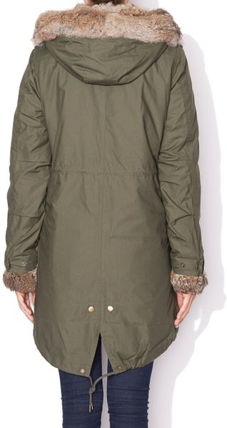 woolrich eskimo jacket in green light army lyst. Black Bedroom Furniture Sets. Home Design Ideas