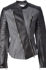 3.1 Phillip Lim Colour Block Biker Jacket - Lyst