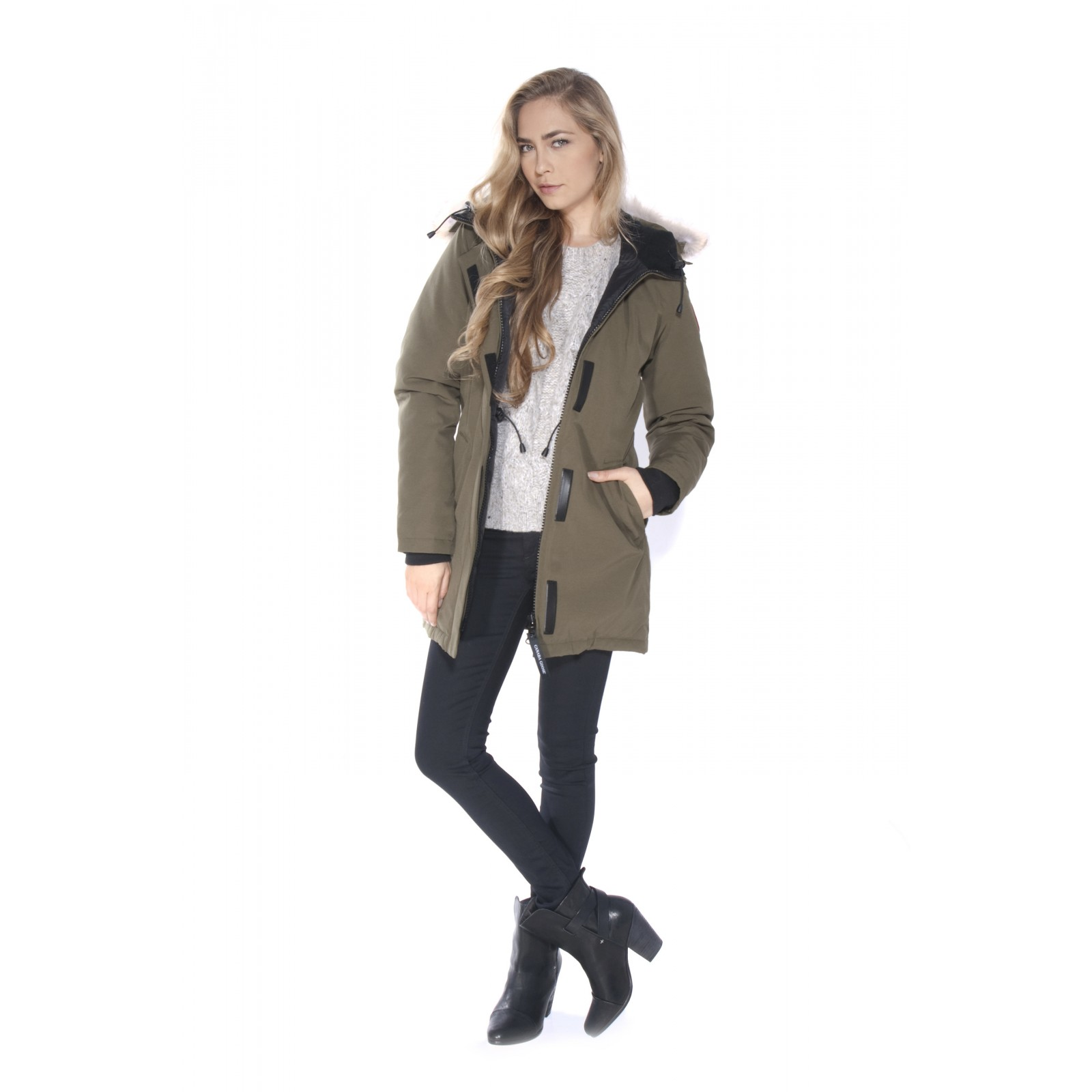 Canada Goose womens sale official - Canada goose Victoria Parka in Green (military) | Lyst