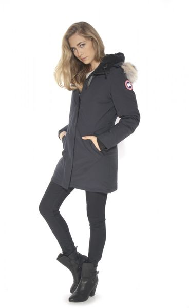 canada goose victoria parka in blue navy lyst. Black Bedroom Furniture Sets. Home Design Ideas