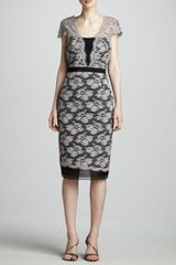 Carolina Herrera Banded Lace Dress - Lyst