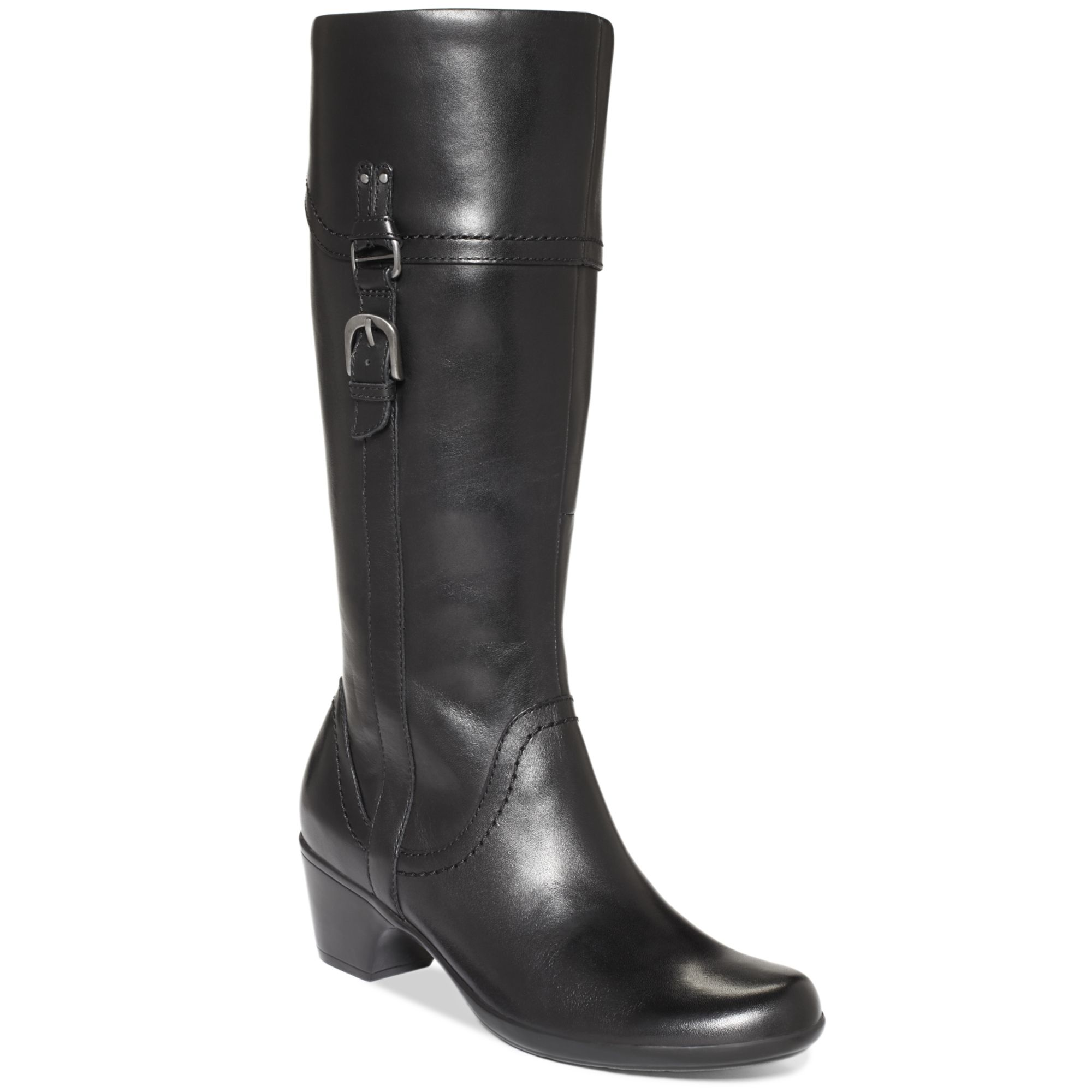 2babb27e7bef Lyst - Clarks Ingalls Vicky Ii Wide Calf Boots in Black
