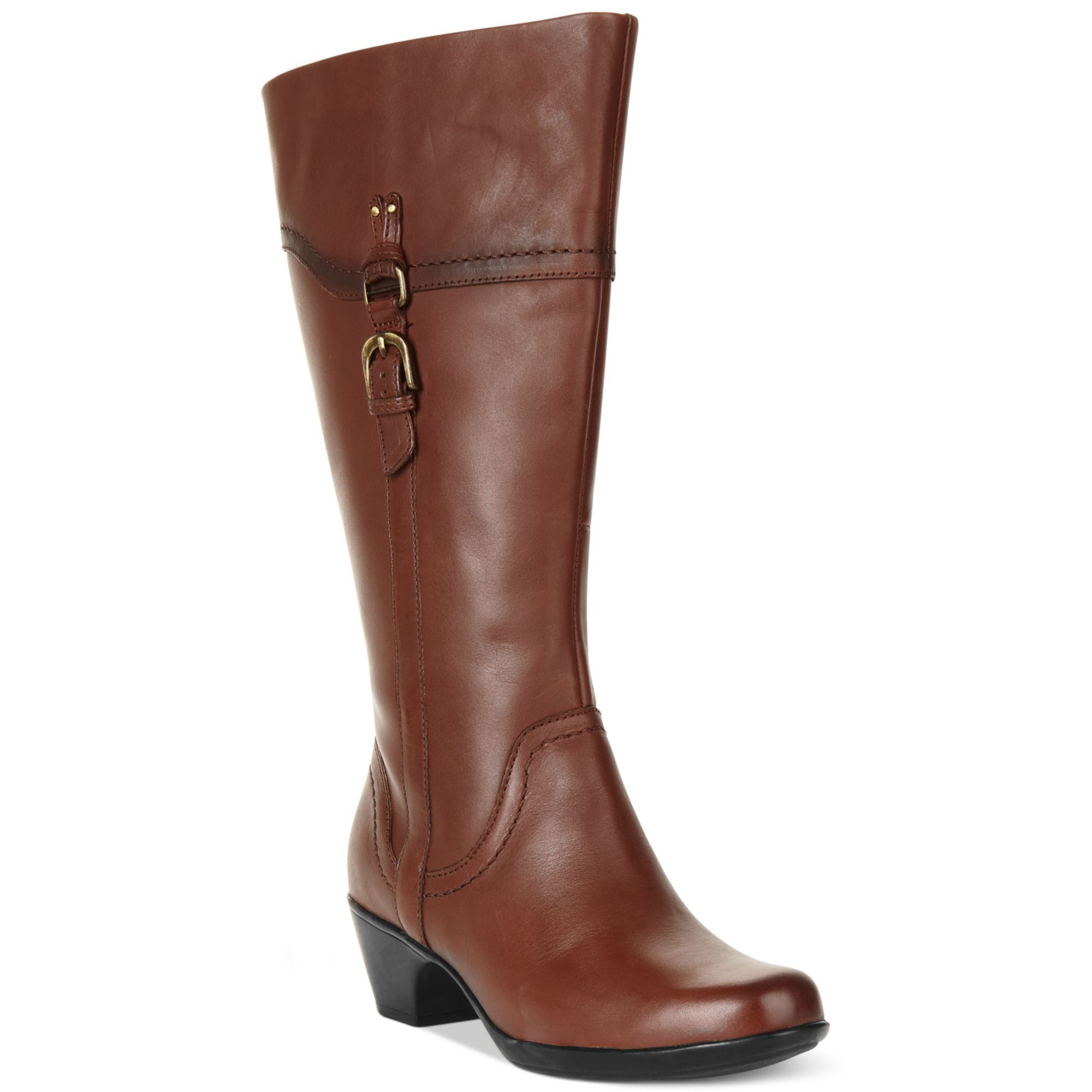 dc35d8e347ab Lyst - Clarks Ingalls Vicky Ii Wide Calf Boots in Brown