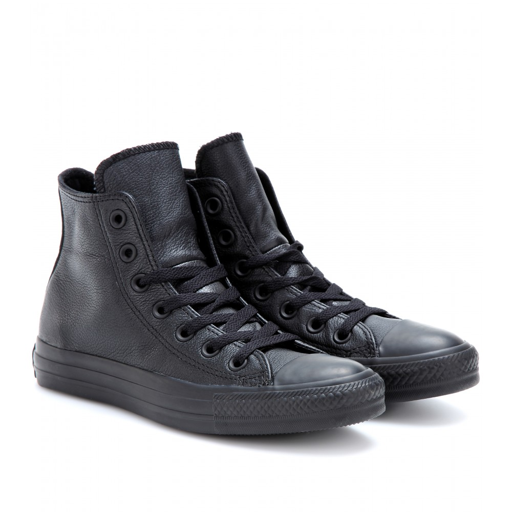 converse chuck all leather hightop