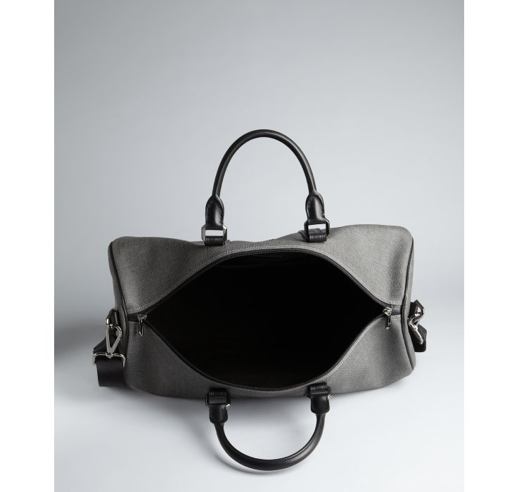 Ferragamo Black and Grey Coated Canvas and Leather Extra Large ...