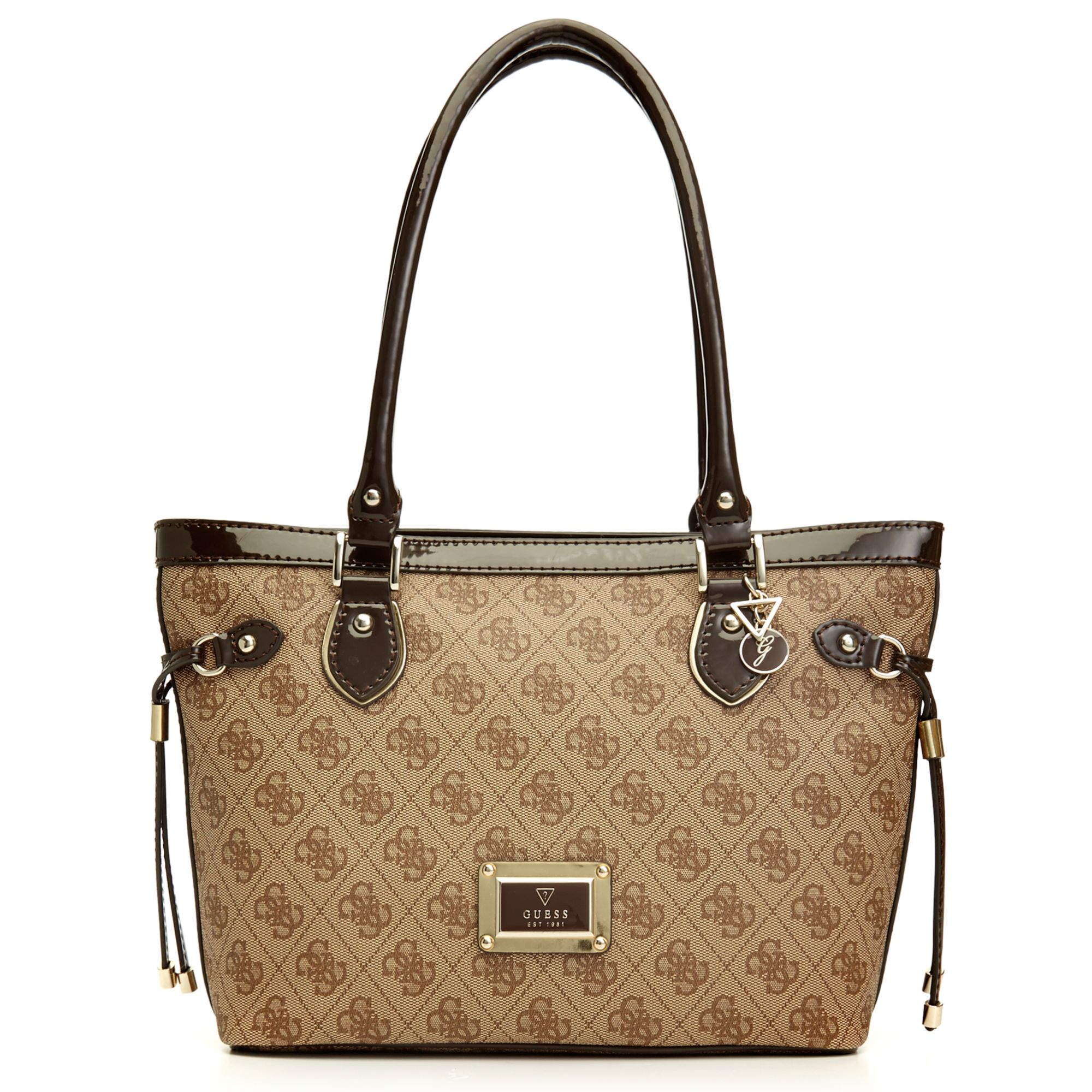 Guess Guess Handbag Reama Small Classic Tote In Brown