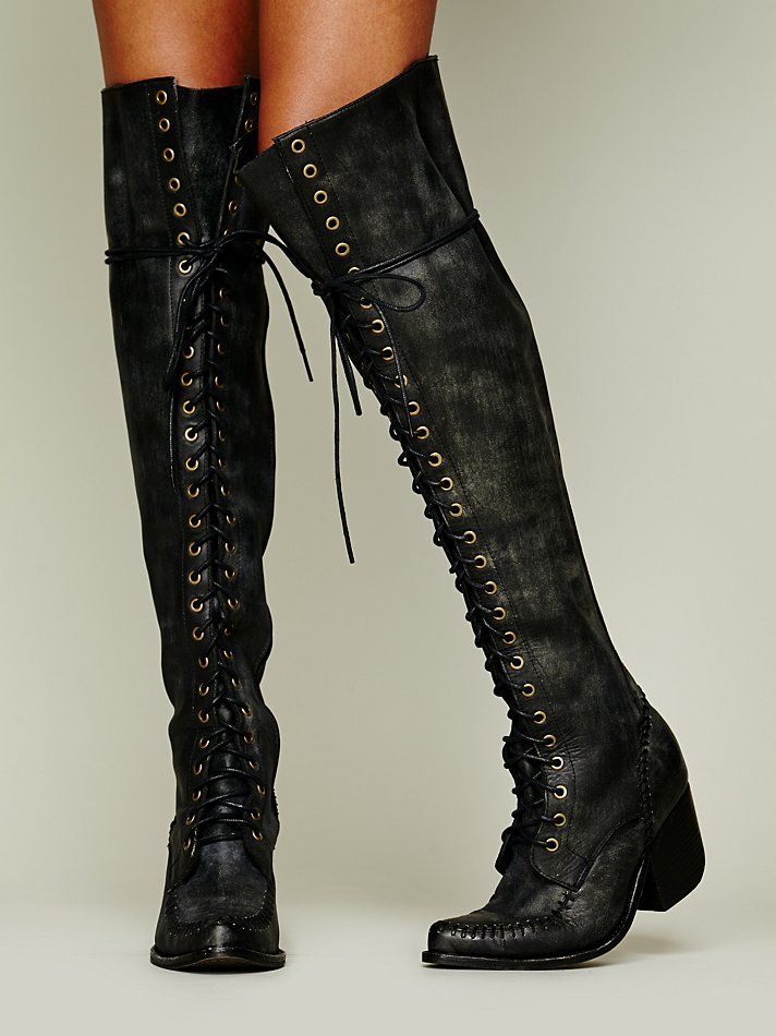 Jeffrey Campbell James Lace Up Boot In Black Lyst