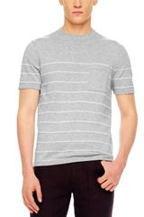 Michael Kors Striped Crewneck Tee - Lyst