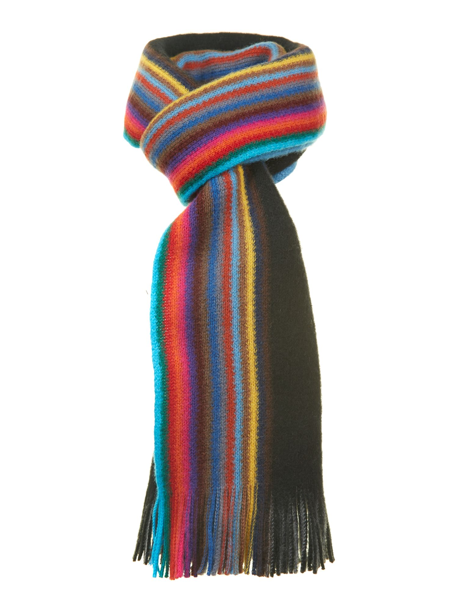 paul smith reversible multiedge scarf in black for lyst