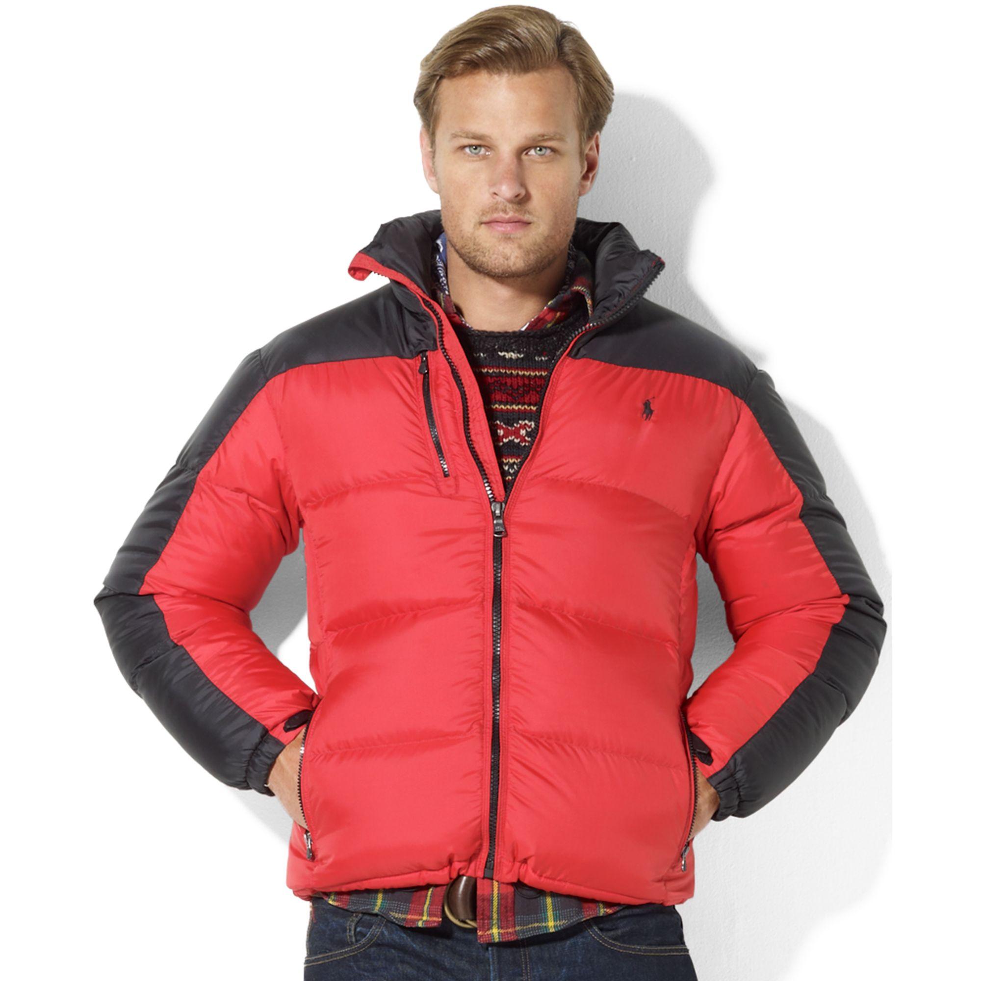 Ralph Lauren Snow Polo Core Trek Down Jacket in Red for ...