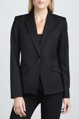 Theory Narolie Elite Onebutton Blazer Black - Lyst