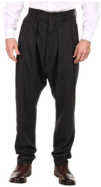 Vivienne Westwood Man Shadow Suiting Pleated Trouser - Lyst