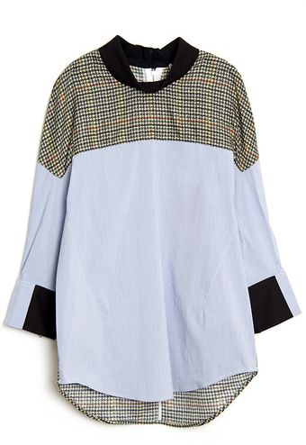 3.1 Phillip Lim Plaid Poplin Top - Lyst