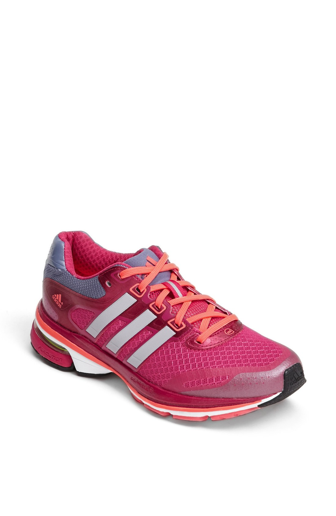 adidas supernova glide 5 running shoe in pink pink