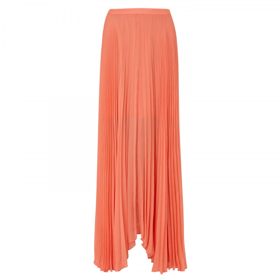 shannon pleated sheer chiffon crepe maxi