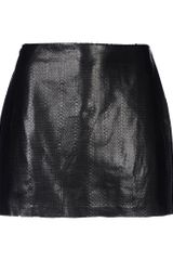 Alice + Olivia Leather Skirt - Lyst