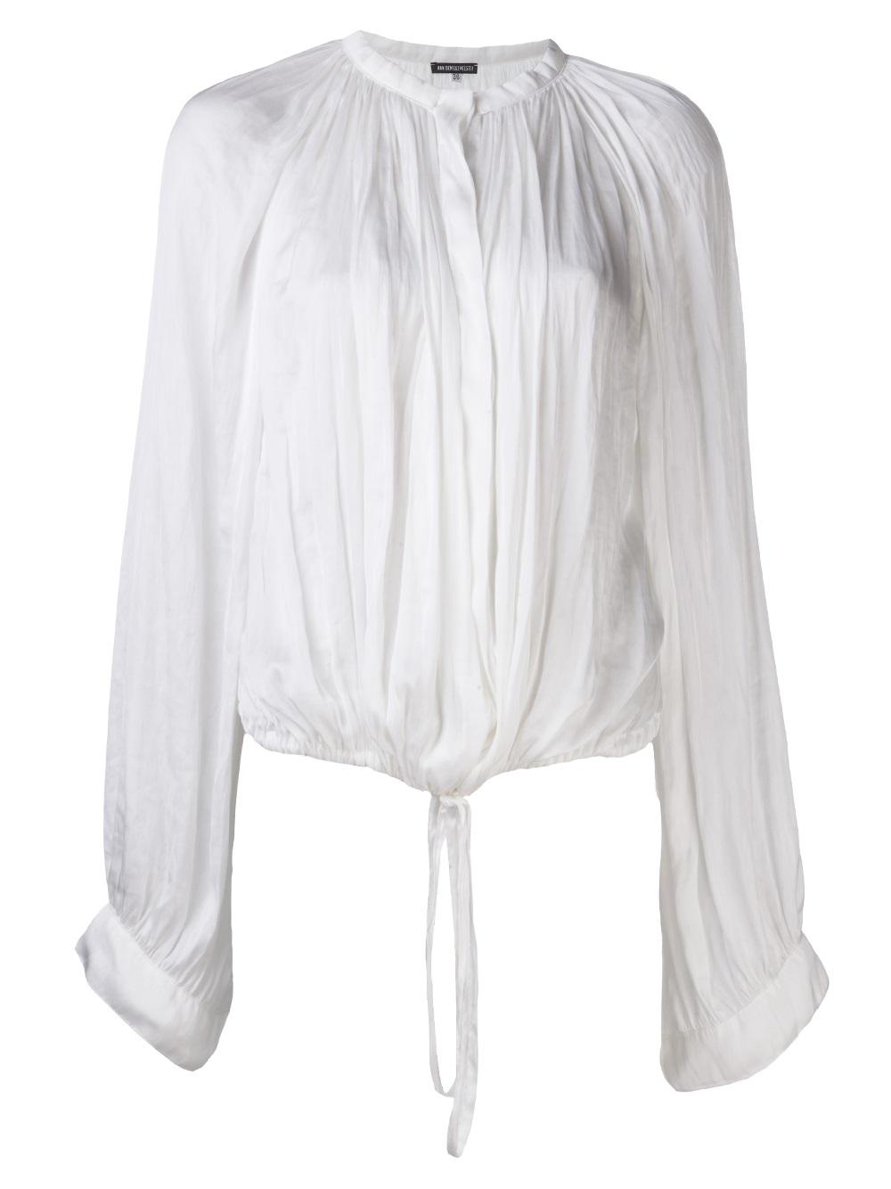 con Demeulemeester tamaño de Ann cordón blusa gran EqYwnzvx