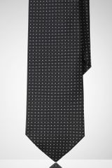 Black Label Narrow Pin Dot Silk Tie - Lyst
