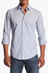 Boss by Hugo Boss Ronny Slim Fit Ombré Check Sport Shirt - Lyst