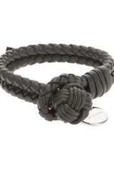 Bottega Veneta Intrecciato Leather Bracelet - Lyst