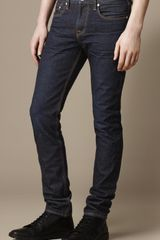 Burberry Shoreditch Raw Skinny Fit Jeans - Lyst