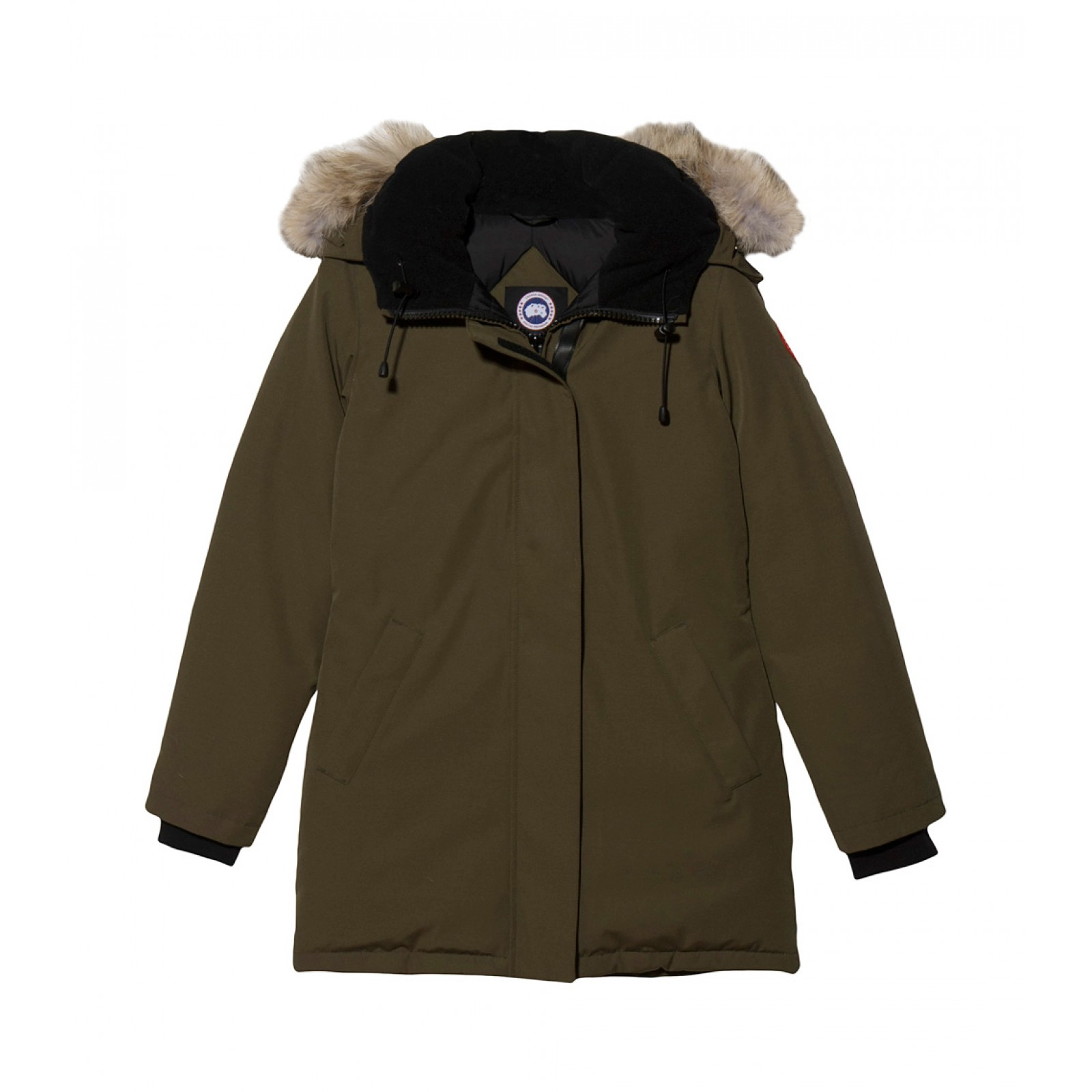 canada goose victoria parka in green military lyst. Black Bedroom Furniture Sets. Home Design Ideas