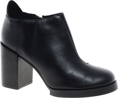 cheap monday leather layer ankle boot in black lyst