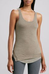 Donna Karan New York Doublelayer Ribbedslub Tank - Lyst