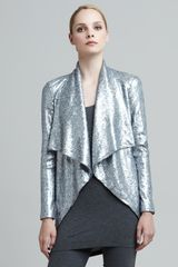 Donna Karan New York Sequined Cascadecollar Jacket - Lyst