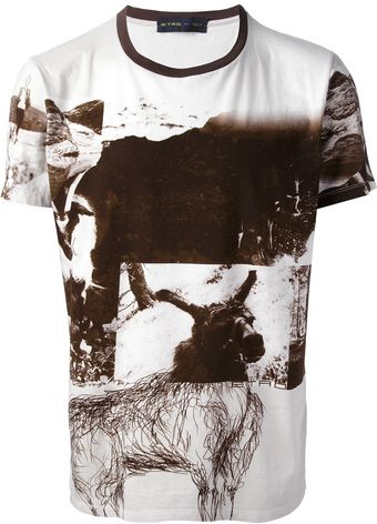 Etro Photo Print Tshirt - Lyst