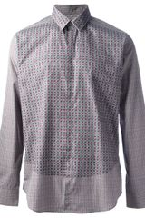 Fendi Printed Long Sleeve Shirt - Lyst