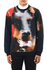 Givenchy Abstract Doberman print Sweatshirt - Lyst