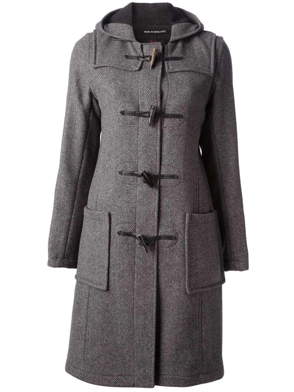 Gloverall Duffle Coat in Gray (grey) | Lyst