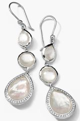 Ippolita Stella Triple Drop Earrings with Diamonds - Lyst