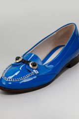 Jason Wu Patent Jewelbutton Oxford Blue - Lyst