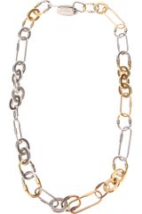 Lanvin Twotone Necklace - Lyst